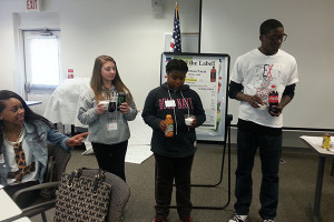 Through the UD Cooperative Extension Food Smart Families program, teenagers discuss the value of nutrition.
