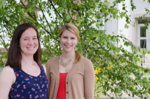 Rebecca Kern and Allison Rogers receive the 2014 Benton Graduate Student  Awards