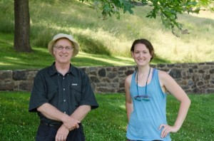 Doug Tallamy and Emily Baisden conduct research at Mt. Cuba Center