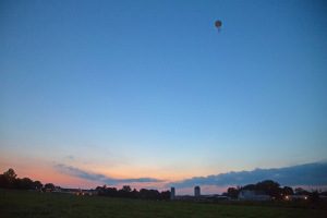 Dr. Jeff Buler,  uses this balloon to collect insects for a study on fall insect migration. His assistants Jaci Smolinski and Matthew Levendosky launch this balloon in the evening (approx 500 feet in the air) with a net attached to it to capture insect specimens.