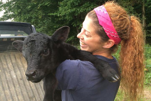 UD alumna Katie Williams is a herdsperson at Herr Angus Farm in Nottingham, Pennsylvania.