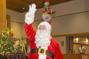 Breakfast with Santa at Clayton Hall for alumni and kids