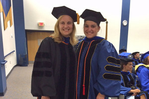 Kali Kniel, Sarah Markland at convocation