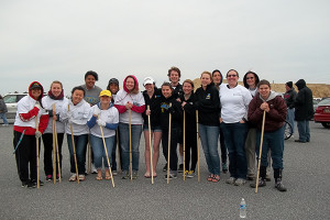 The CANR Agcelerate program features activities on campus and off campus, including the planting of beach grass at the Delaware shore.