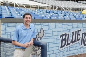 Max Gutman works for Wilmington Blue Rocks as a statistical inputter