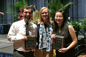 Patrick Spanninger and Qing Wang were among 16 students from around the world who received travel awards from the International Association for Food Protection