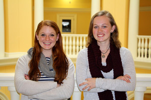 Abby Kramer and Kerry Snyder have been selected to go to the Peace Corps
