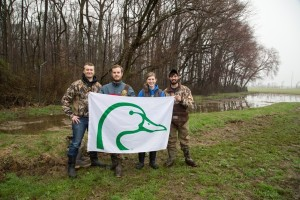 Ducks Unlimited helped install the 6th wetland on the CANR campus